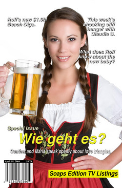 German Octoberfest Beer Girl Card